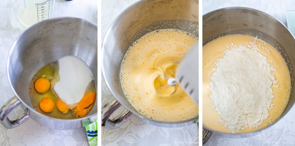 Lemonade bundt cake step by step