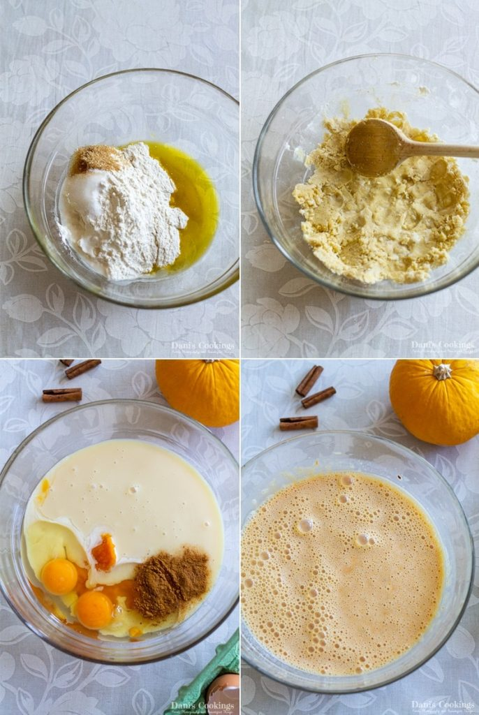 steps to make the easy pumpkin pie recipe