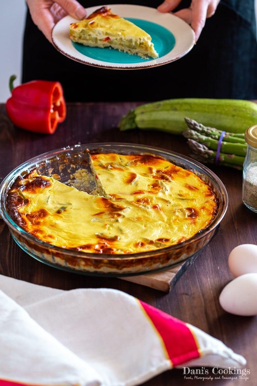 Zucchini Quiche with Olive Oil Crust