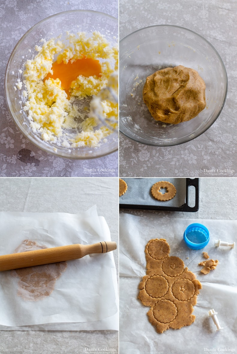 steps to make the dough and cut it