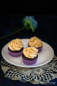 Chocolate Cupcakes with Cream Cheese Peanut Butter Frosting