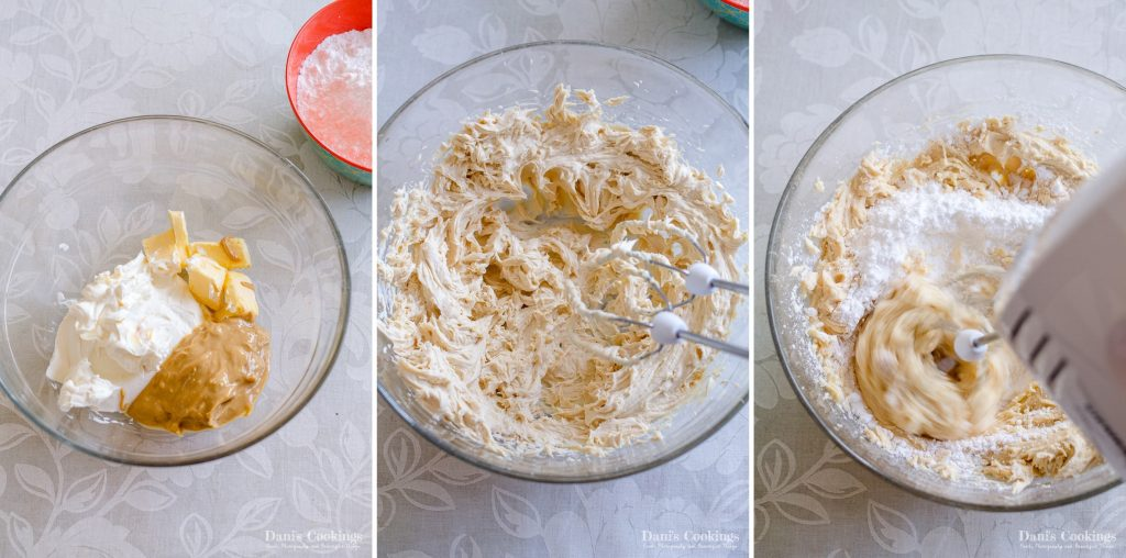 Peanut Butter Cream Cheese Frosting step by step