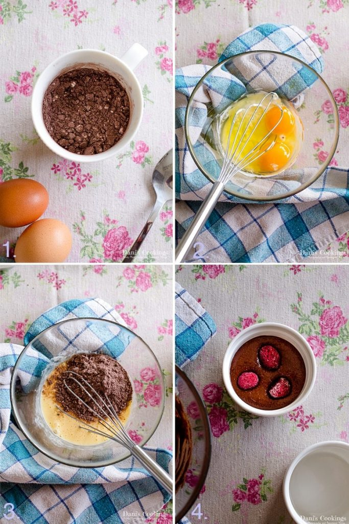 how to make Chocolate Keto Mug Cake step by step