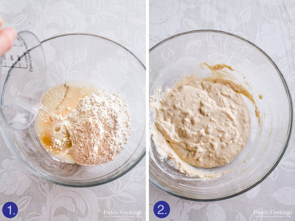 How to make an easy rustic olive bread - preferment