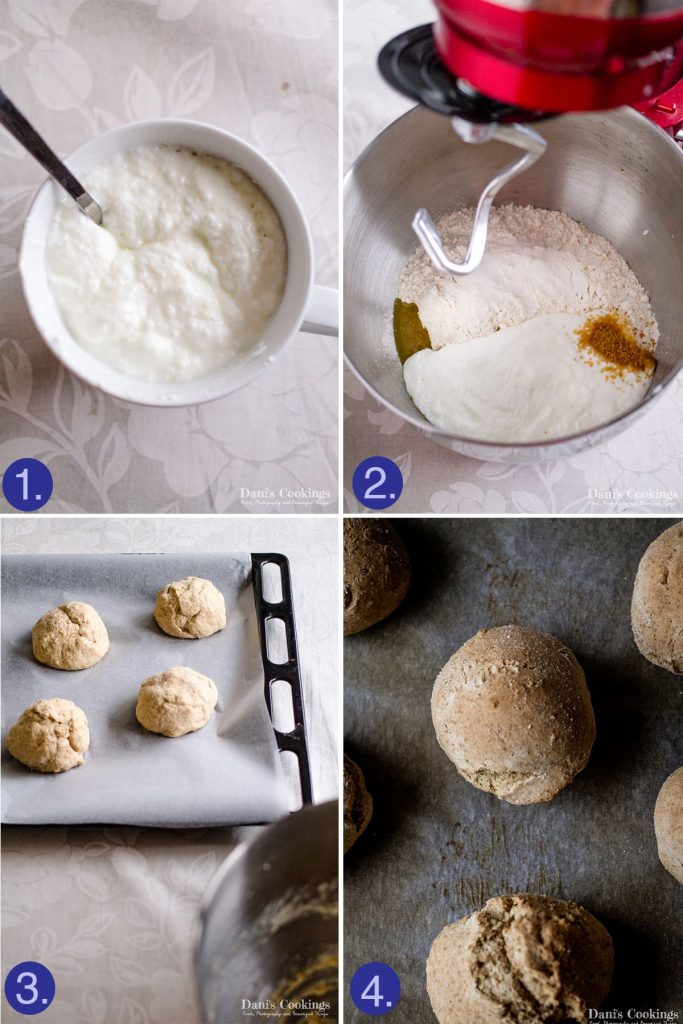 step by step how to make soda dinner rolls