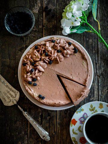 Keto Chocolate Cake with Mascarpone