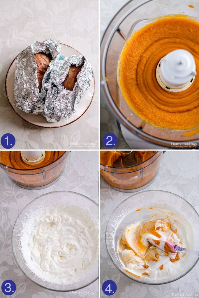how to make sweet potato mousse - steps