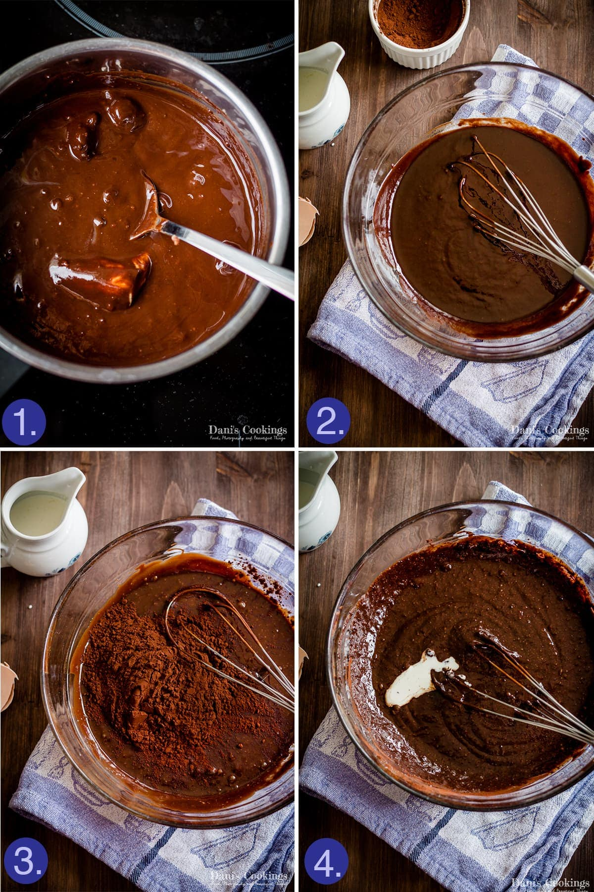 Step by step making a keto flourless cake