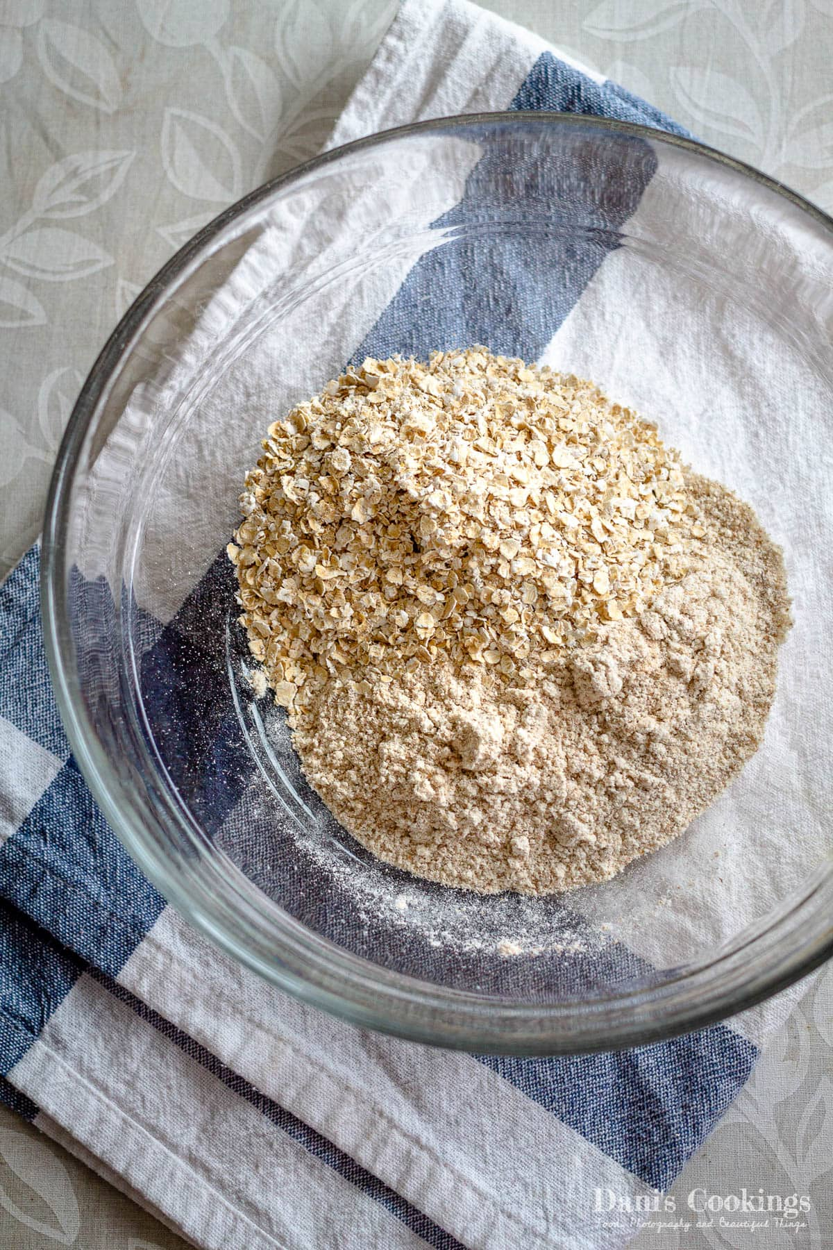 dry ingredients for cookie dough bars