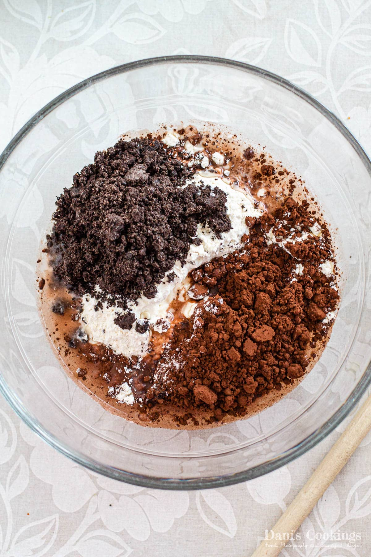 dry ingredients for oreo cheesecake mini tacos