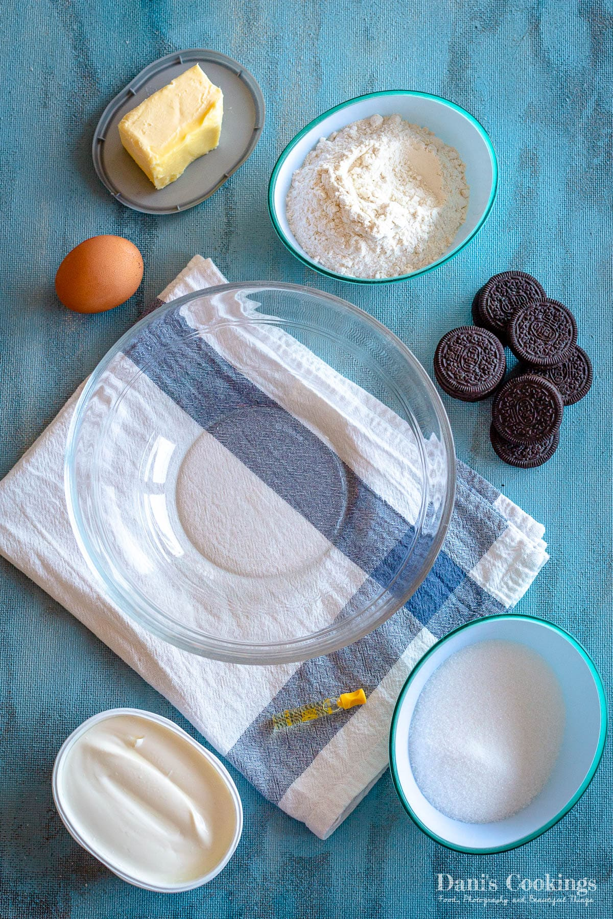 ingredients for Oreo Cheesecake Cookies