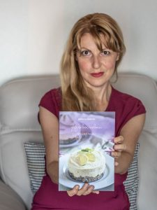 Daniela Lambova with her cookbook