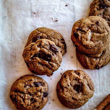 vegan olive oil cookies flat lay