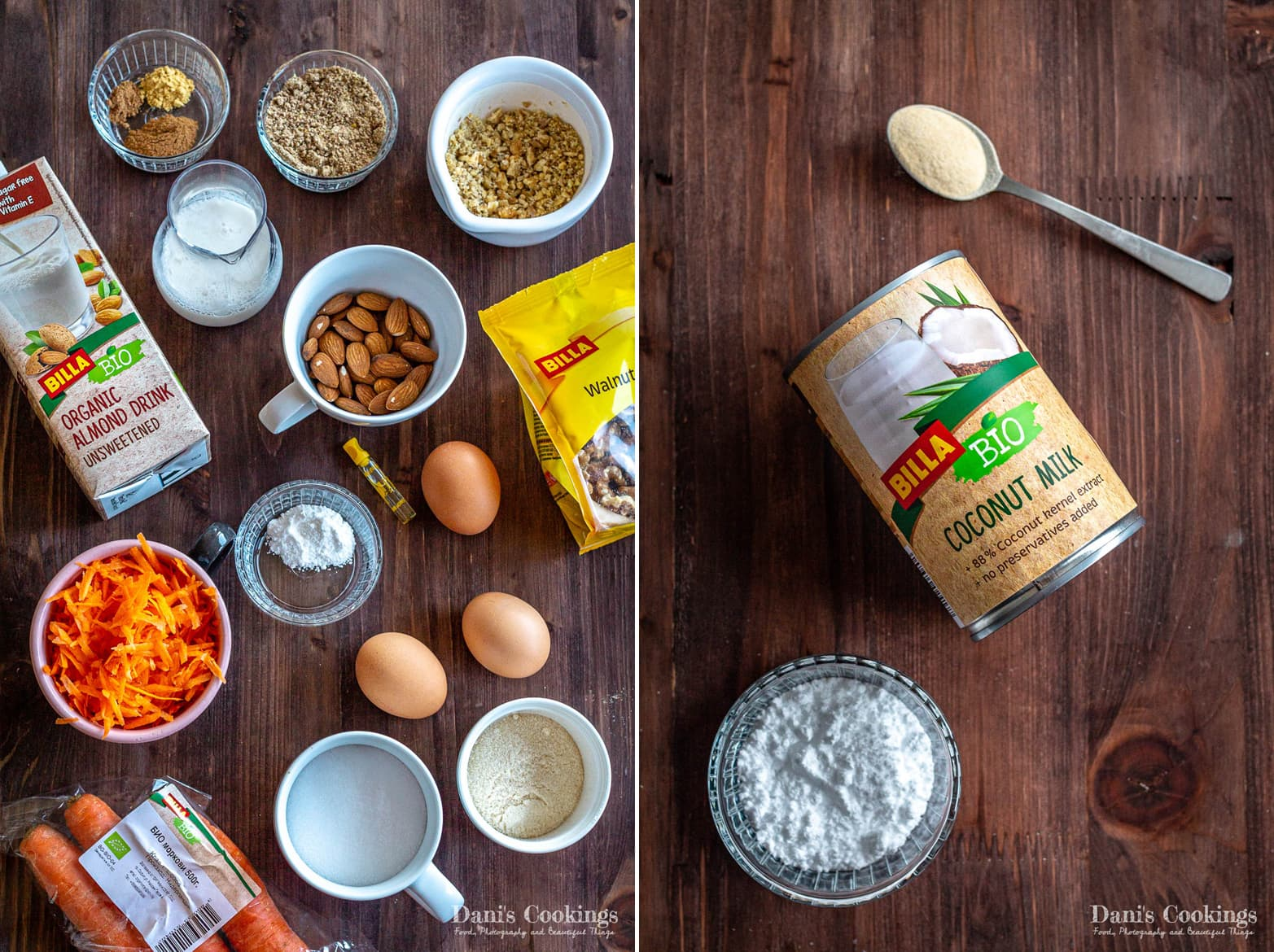 ingredients for keto carrot cake