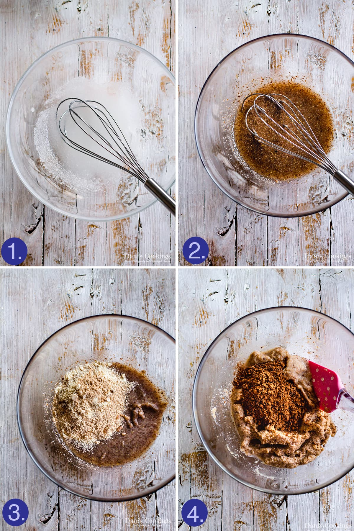 steps to make the base of the mousse cake