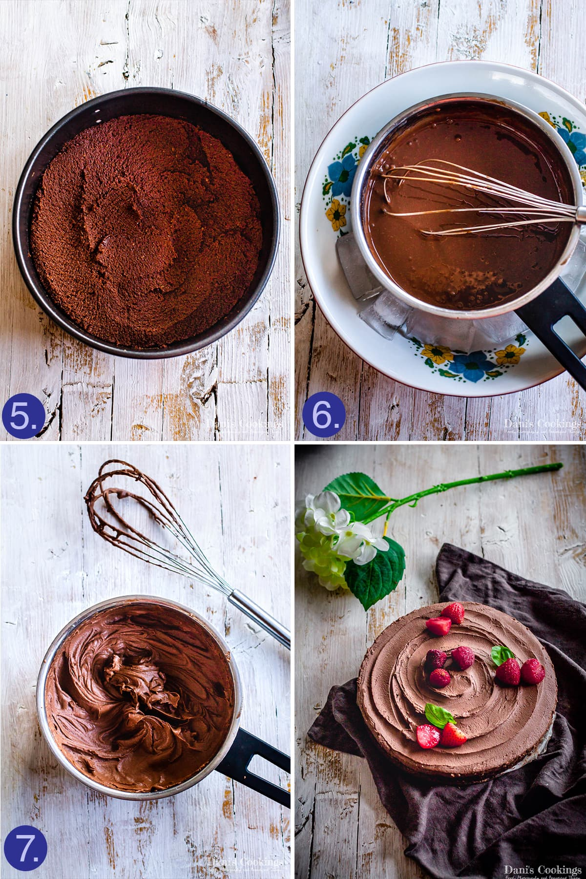 steps to make the mousse of the mousse cake
