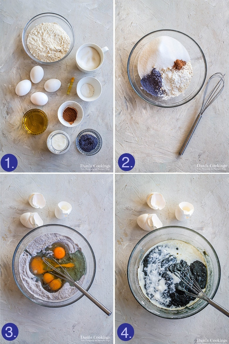 steps to make the cake layers