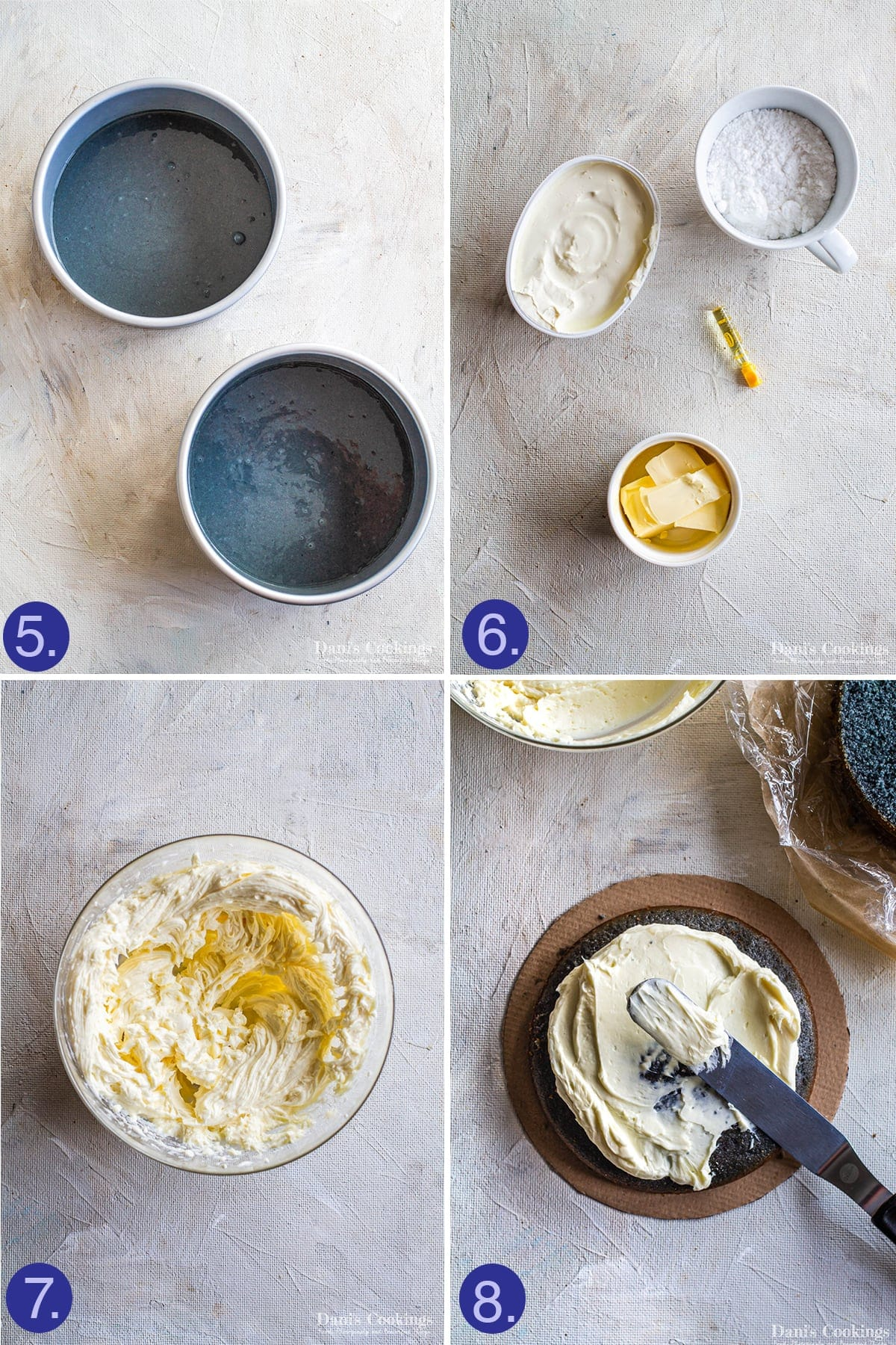 steps to assemble the cake