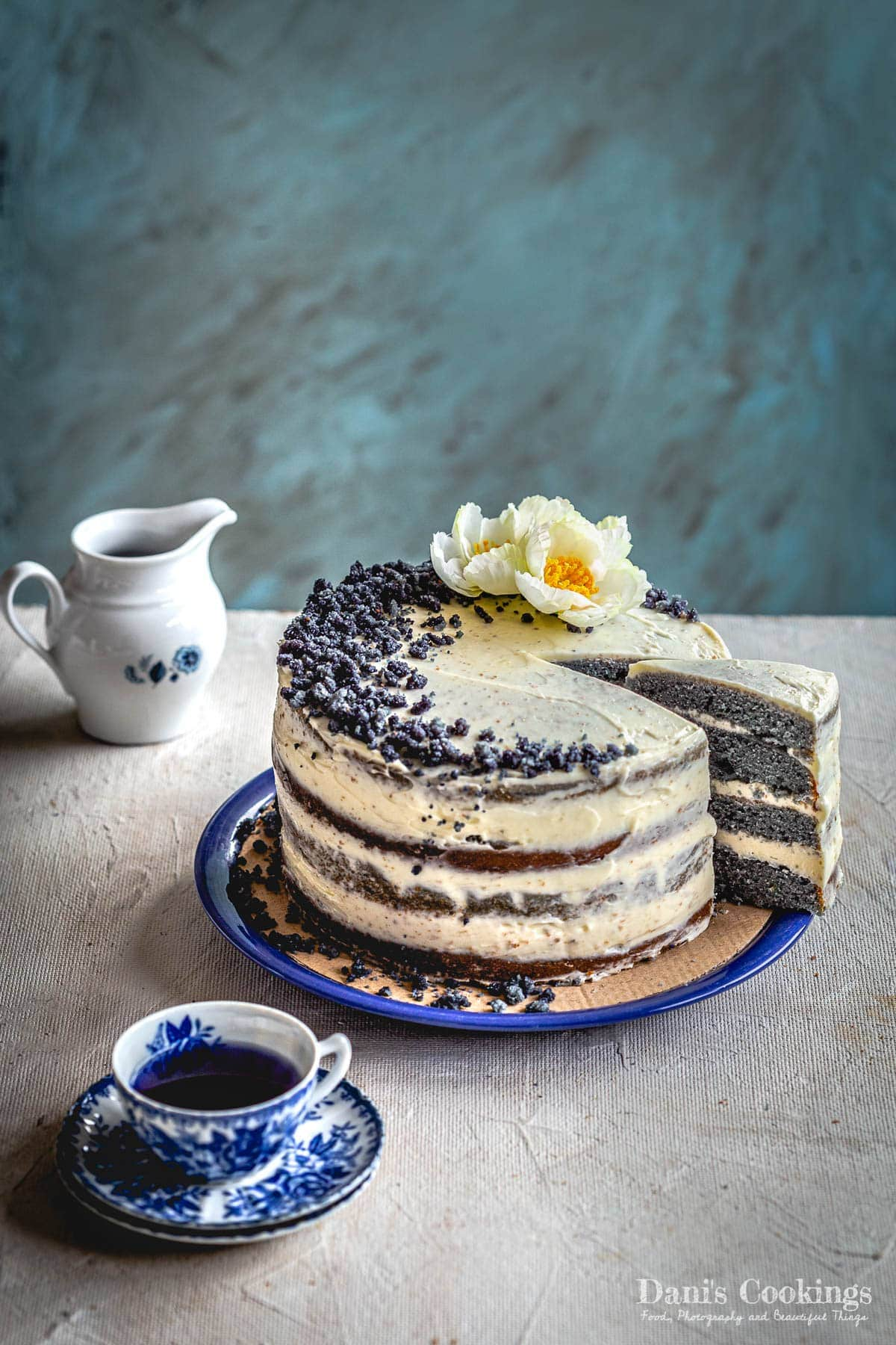 a cake with a slice aside