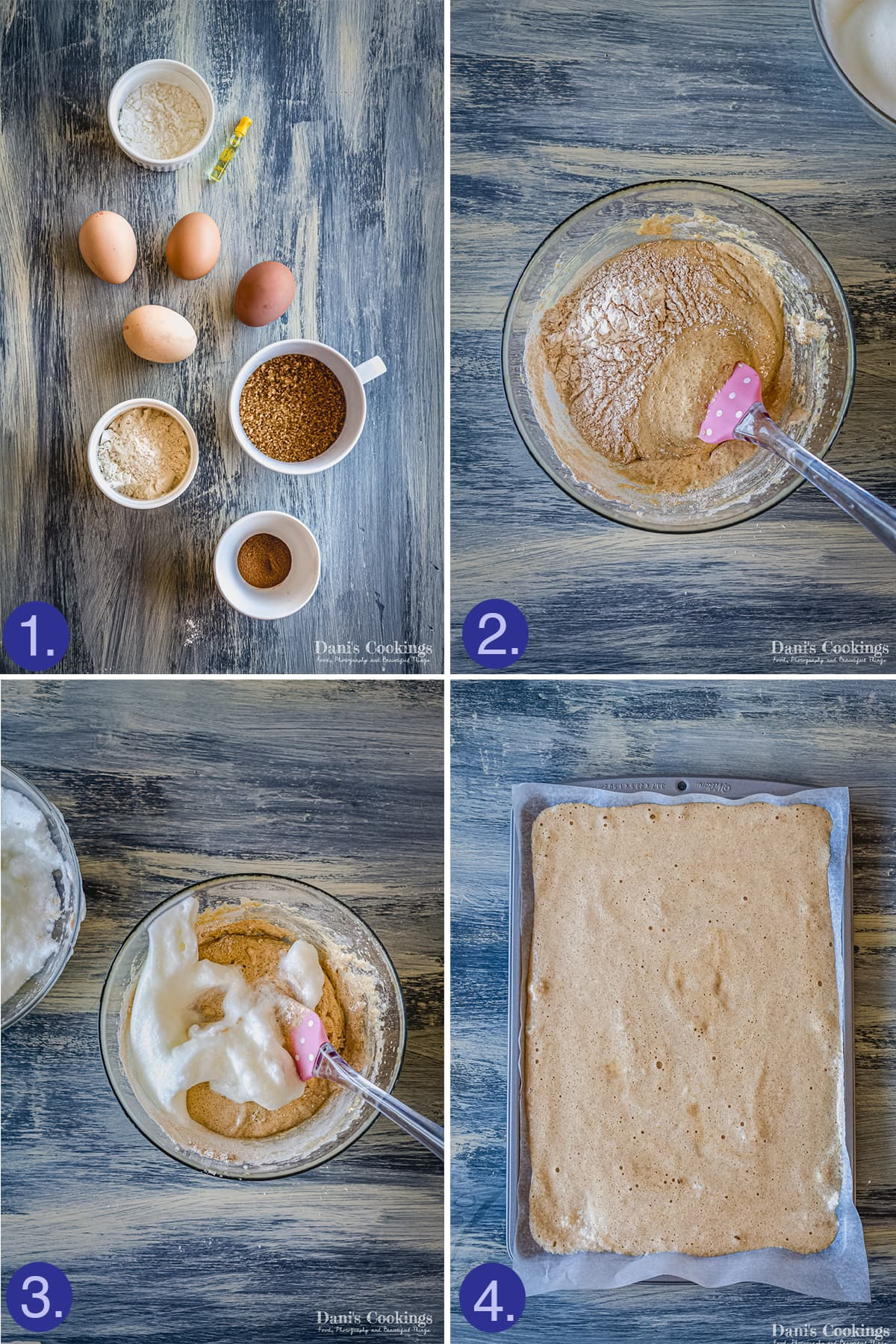 ingredients and steps to make the layers