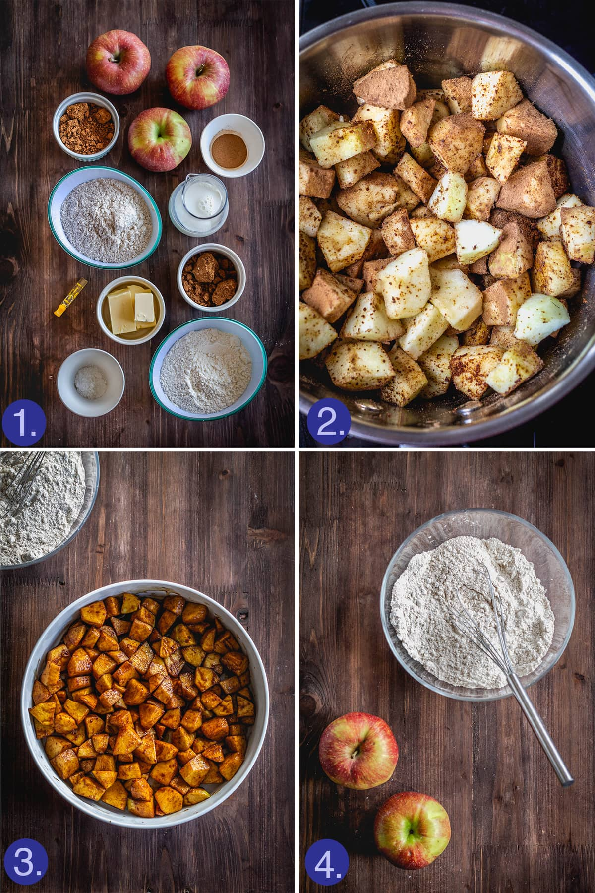 ingredients and initial steps to make the cobbler