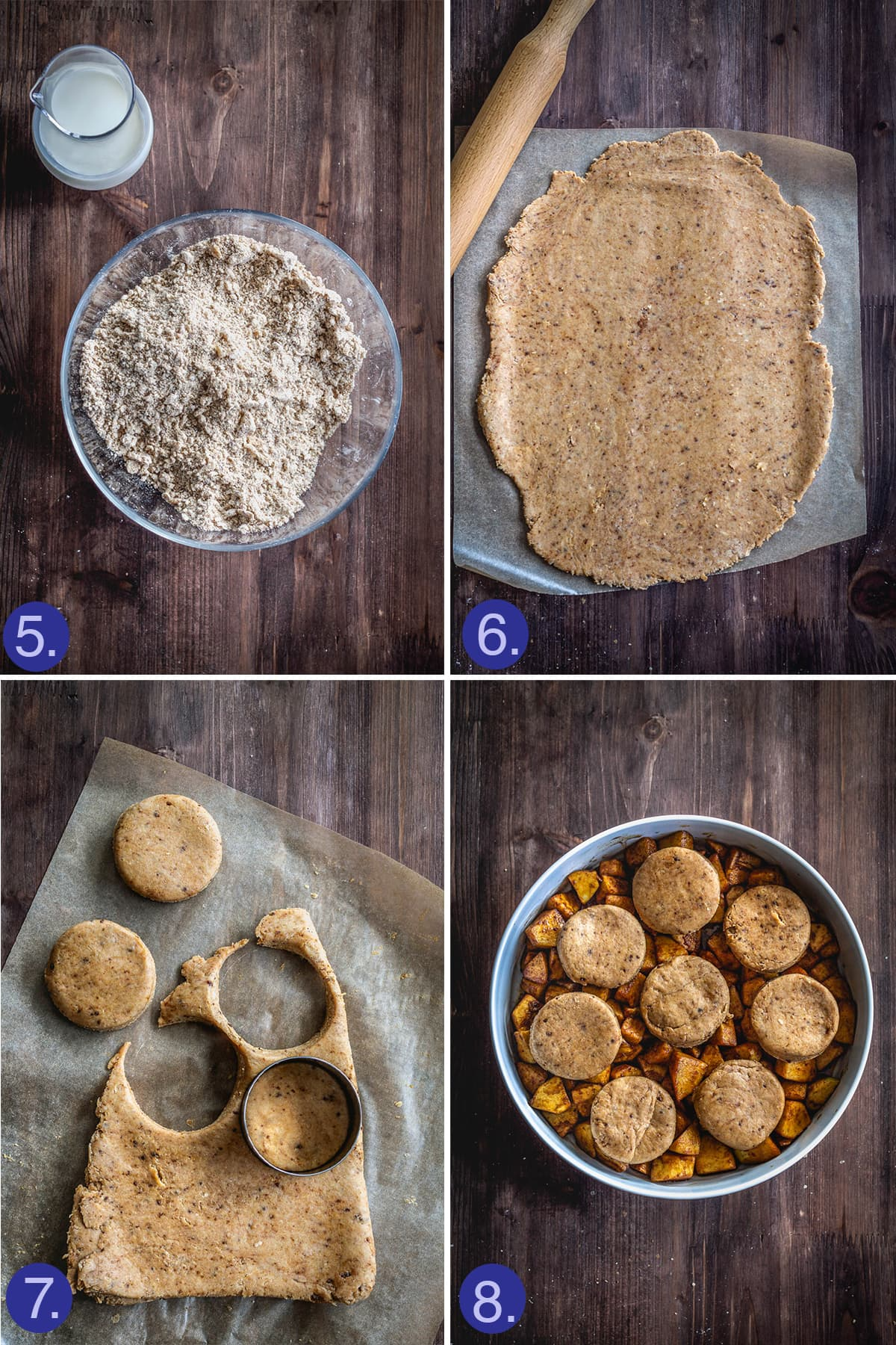 steps to make the cobbler biscuits