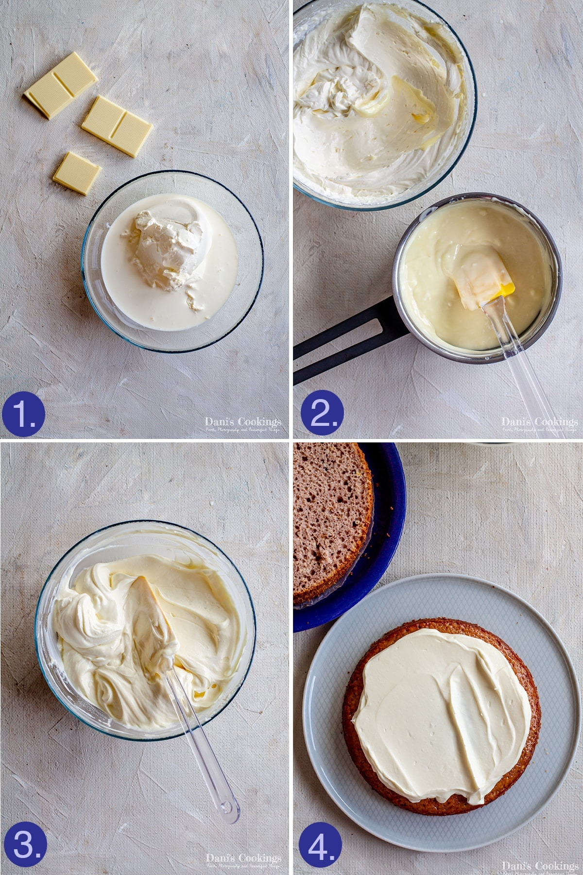 steps to make the frosting