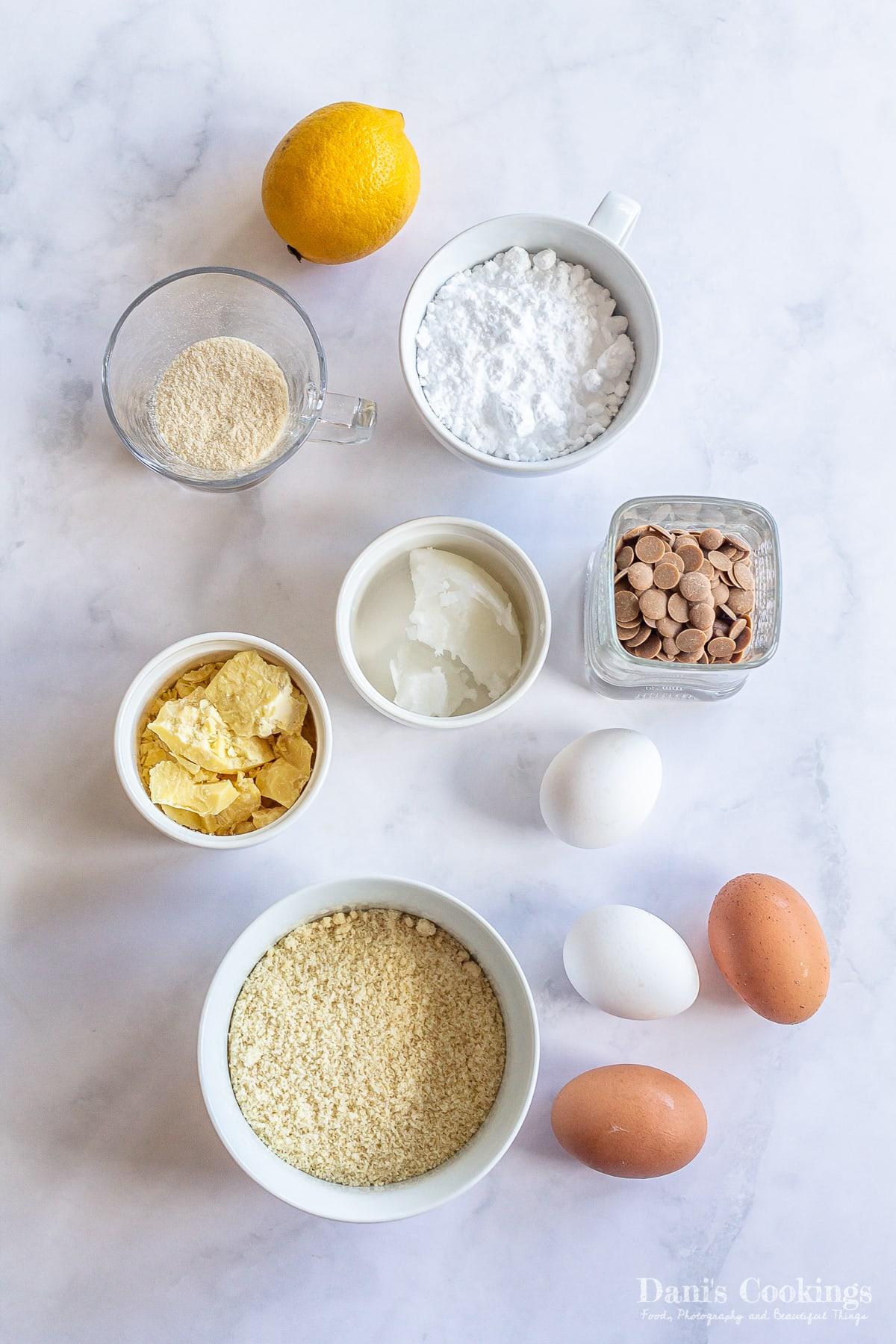 ingredients for keto lemon blondies