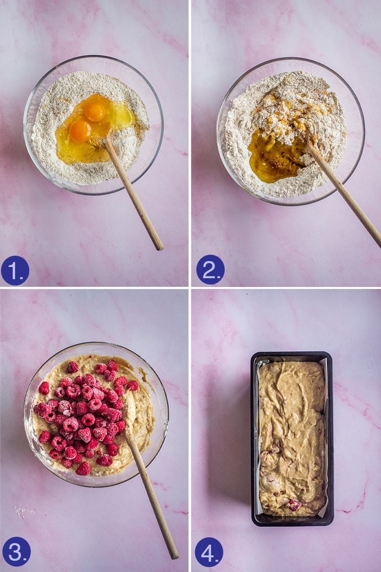 steps to make the raspberry bread