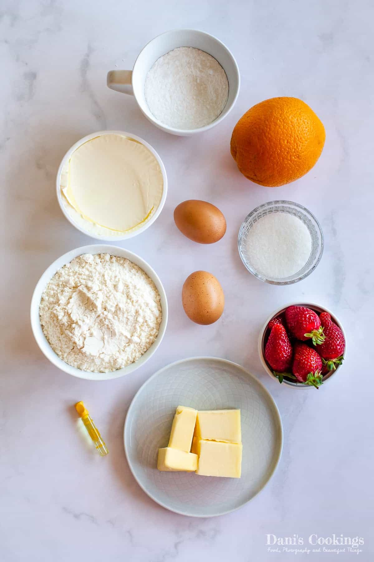 ingredients for the tart