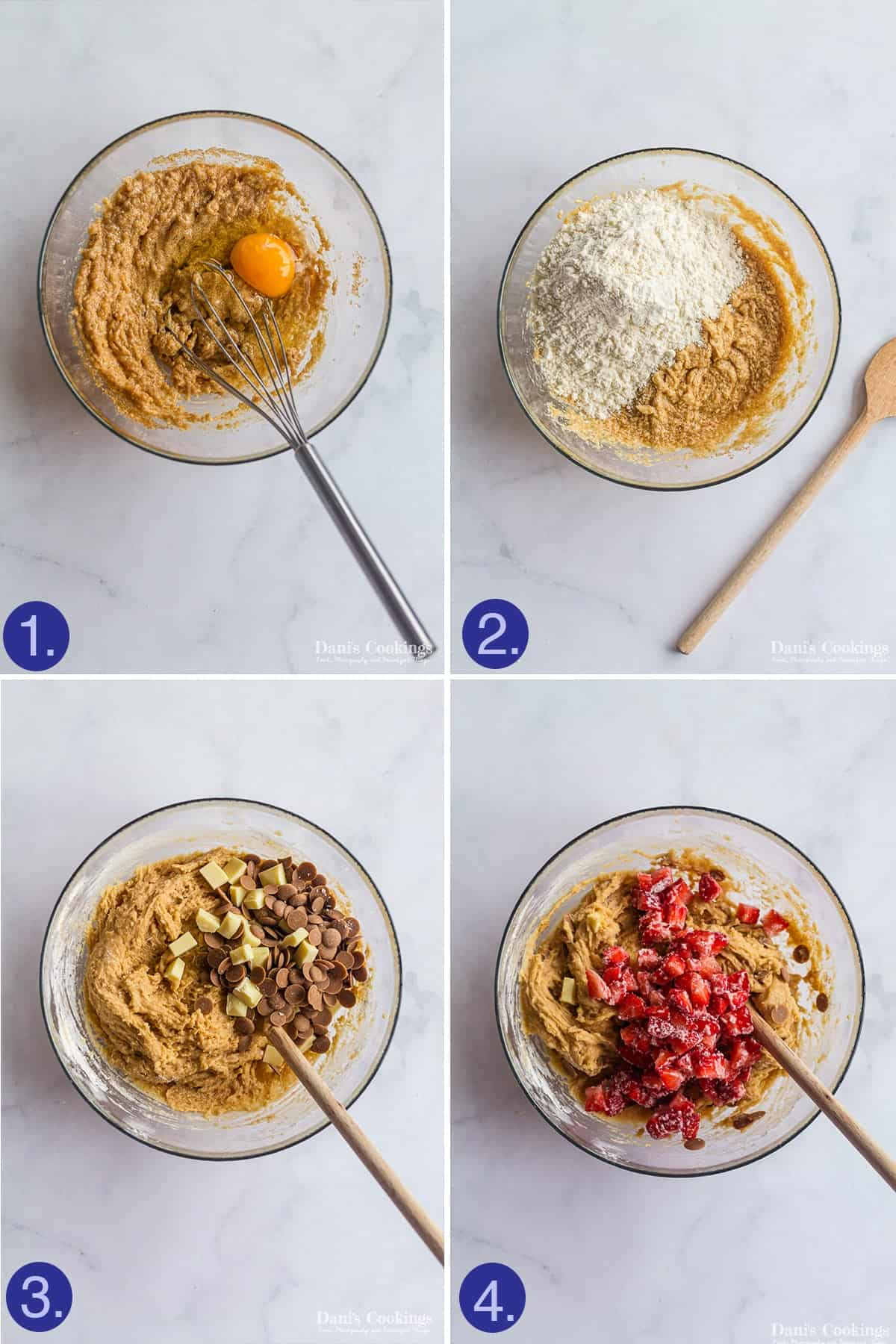 steps to make the cookie dough