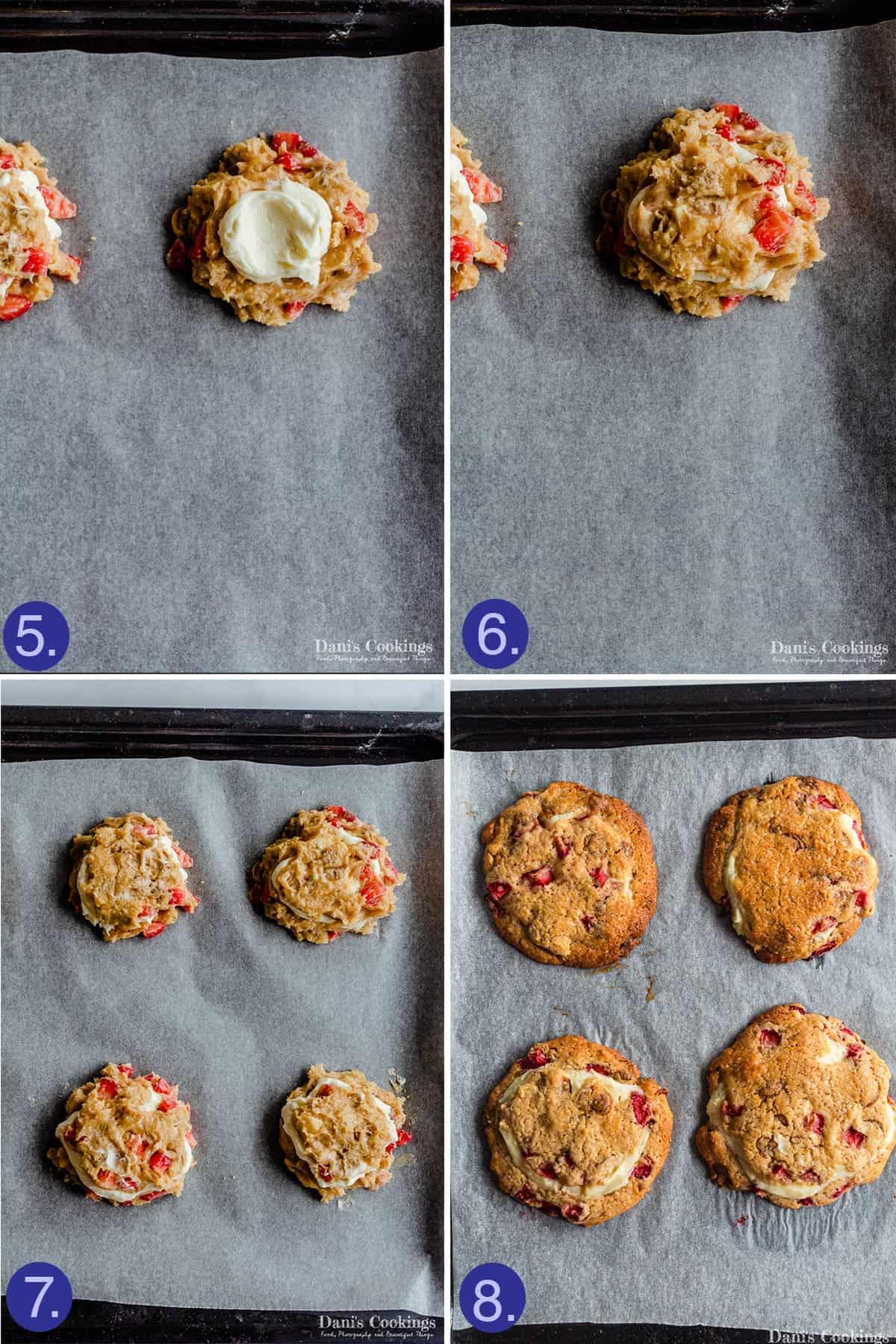 assembling and baking steps