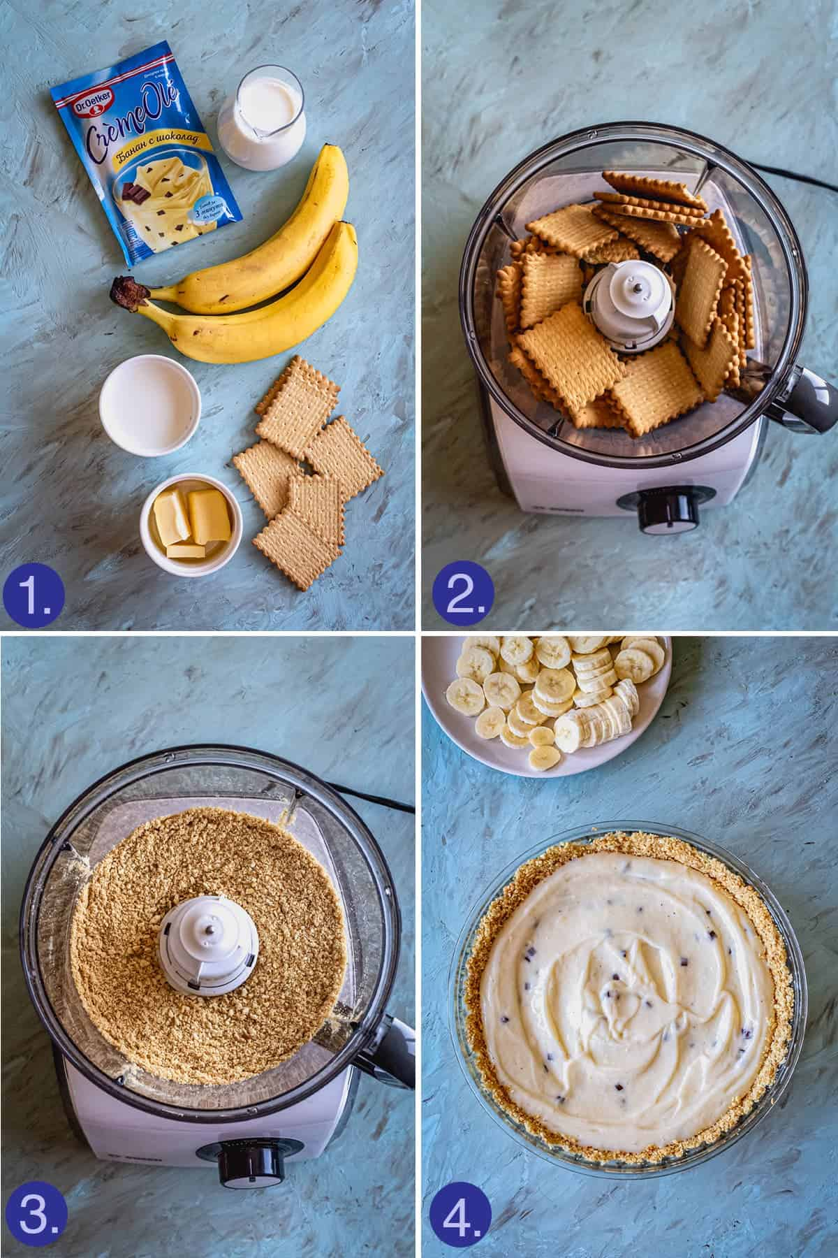 ingredients and steps to make the pie