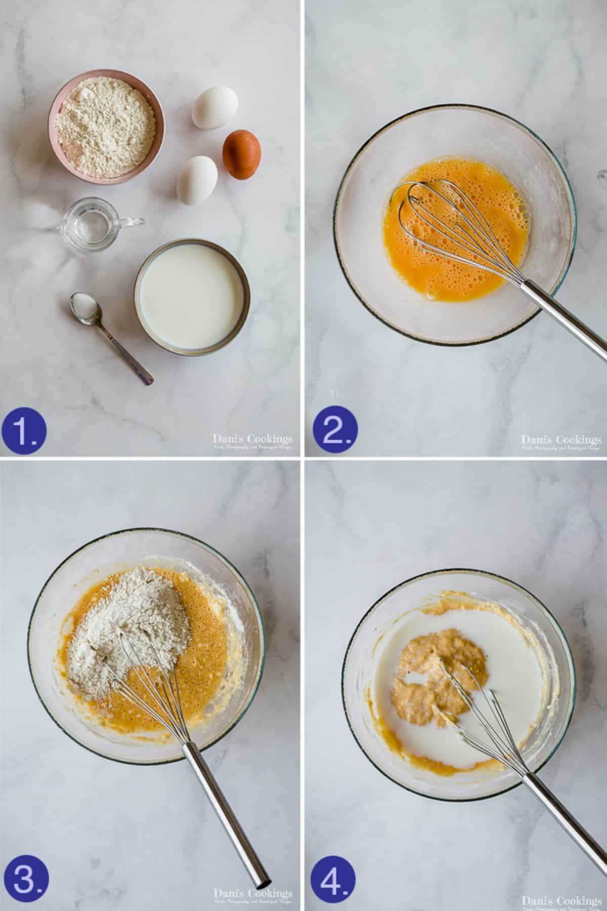 steps and ingredients for crepes