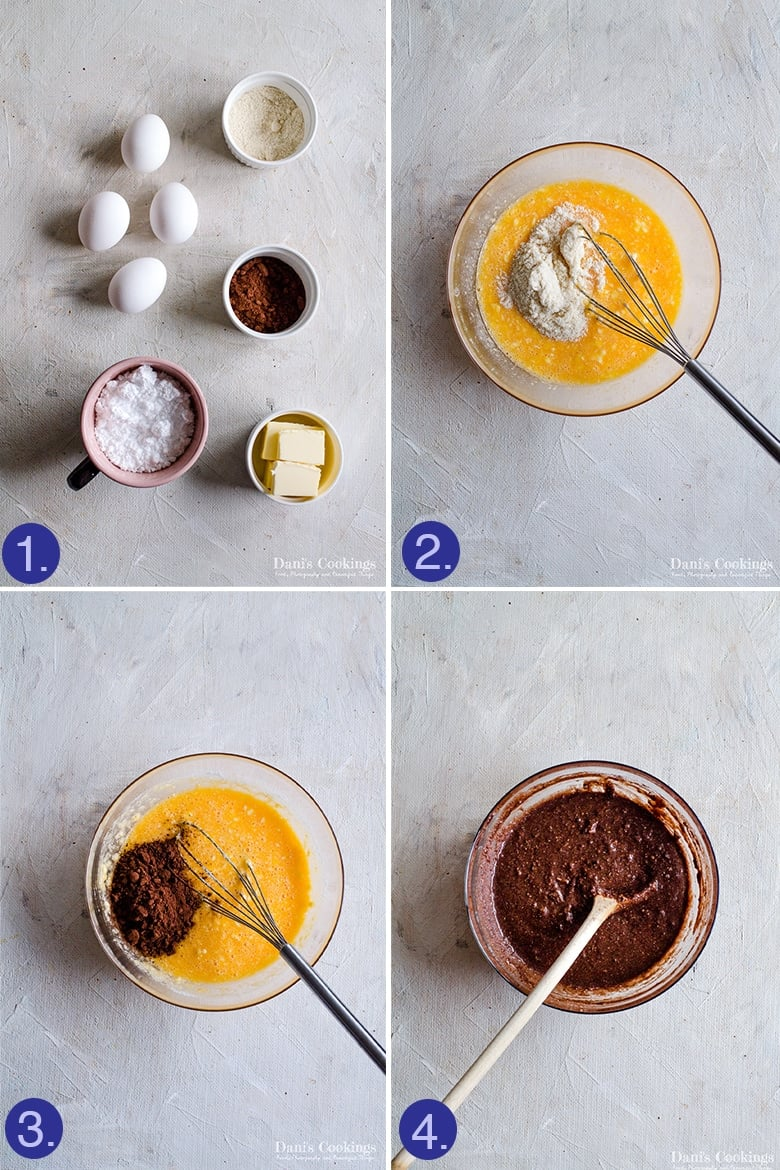 ingredients for the brownies