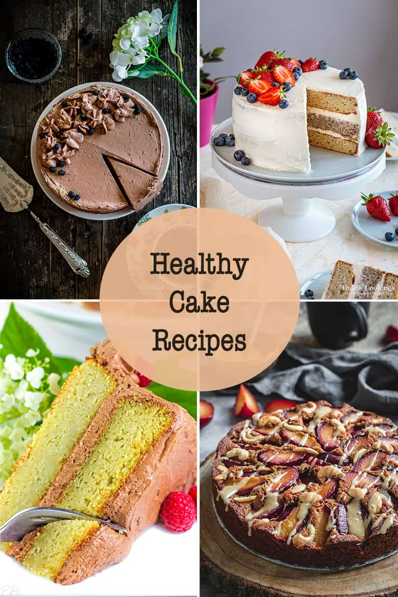 healthy cake recipes collage